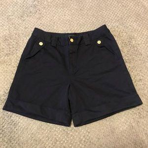 LAUREN RALPH LAUREN Navy Cotton Shorts Sz 10